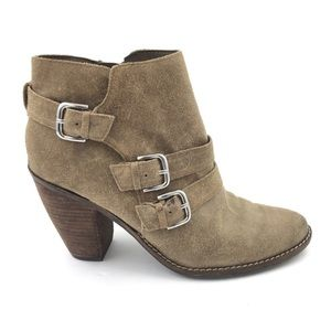 DOLCE VITA Leather Brown Buckle Strap Boots